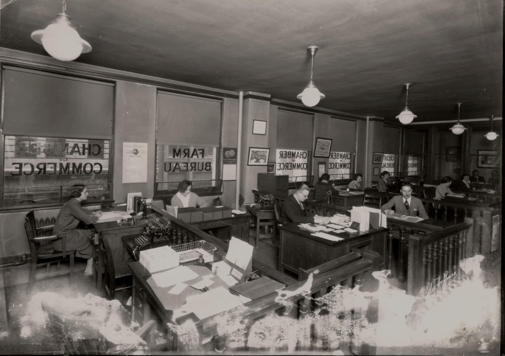 1926: Greater Wilkes-Barre Chamber Offices on Market Street in the Citizens Bank Building